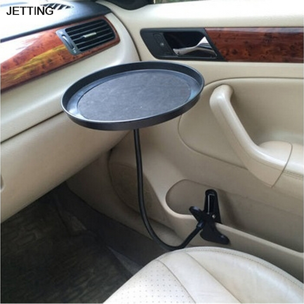Black Car Food Tray Folding Dining Table Drink Holder Car Pallet Back Seat Water Car Cup Holder reflection