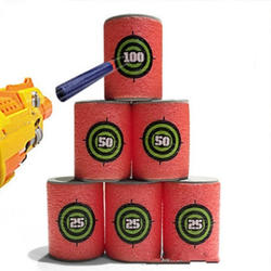 6 шт. пенный Напиток Бутылка Пуля Обучающие принадлежности игрушки цели дротик Nerf целевой набор для N-strike Элитные игры Мягкая Пуля