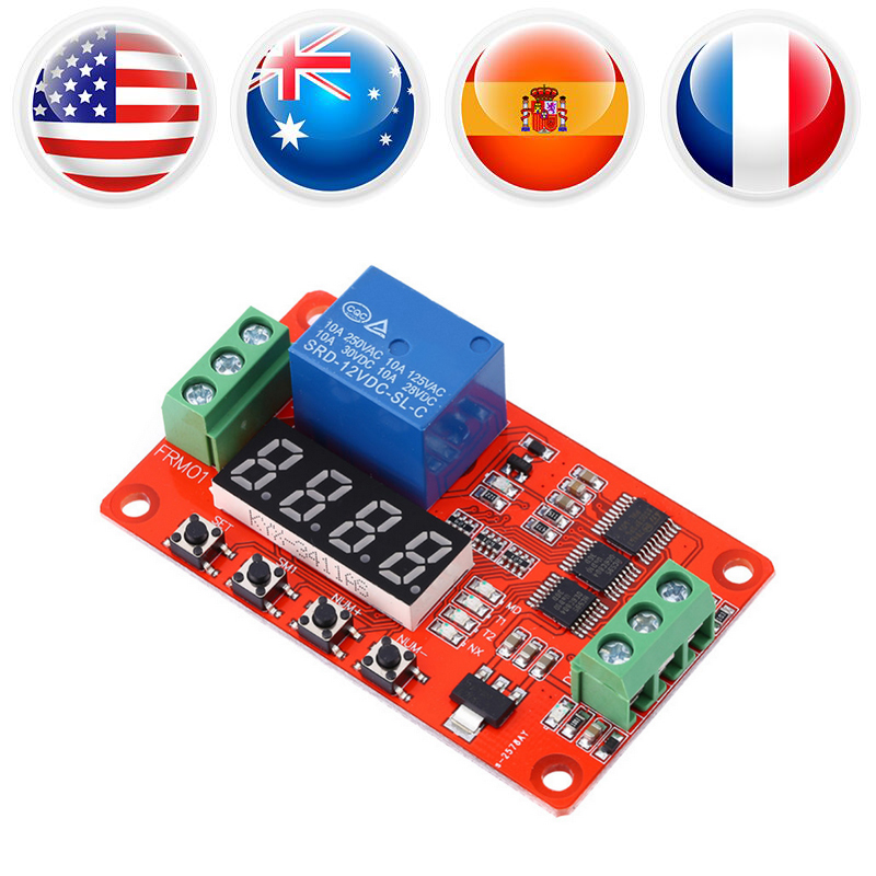 Multifunction 12V DC Self-lock Relay PLC Cycle Delay Time Timer Switch Module PLC Cycle Delay Timer Swicth Controller dc 12v led display digital delay timer control switch module plc