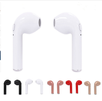 for i7 TWS Twins Wireles Earphone Mini Bluetooth V4.2 Earbuds Stereo Headset For Iphone X 8 8 PLUS 7 plus 7 6s 6 plus Galaxy S8