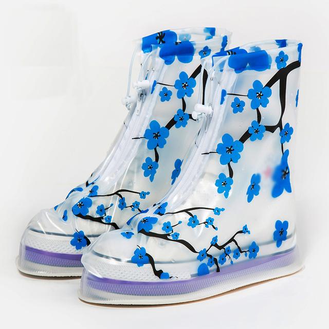 2017 Galochas Tampa Da Sapata Sapatas Das Mulheres Cobrir Sapatos À Prova D' Água À Prova de Chuva Cobrir Impressão Fêmea Adulta Sapatos Cobrir