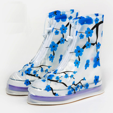 2017 Overshoes Rainproof Shoe Cover Women Shoes Cover Waterproof Shoe Cover Printing Female Adult Shoes Cover