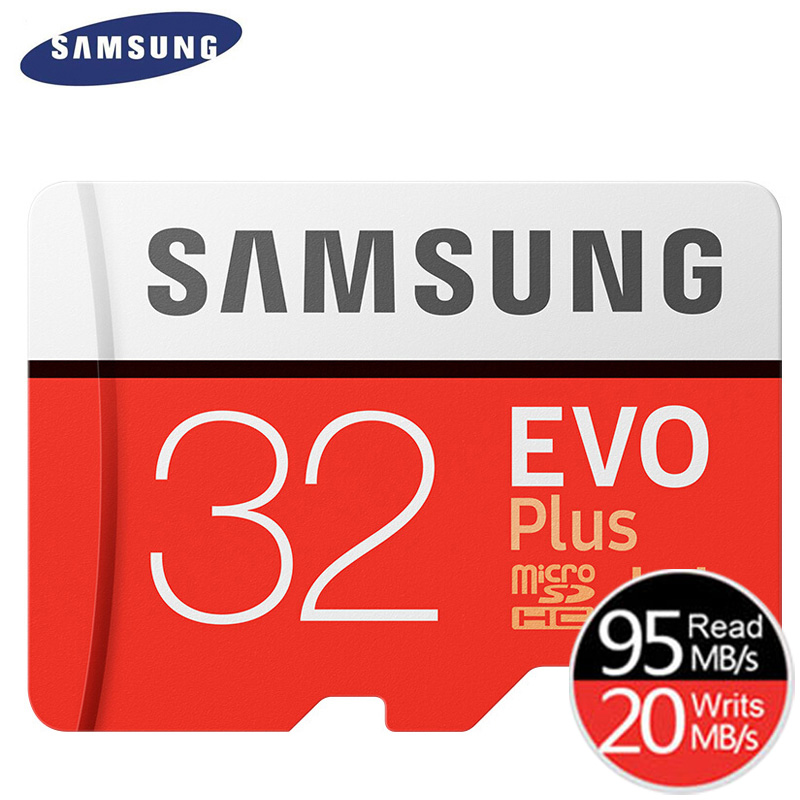 SAMSUNG Original New EVO Plus 32GB Micro SD Memory Card Class10 TFSD Cards C10 R95MBS MicroSDHC UHS-1 Free Shipping