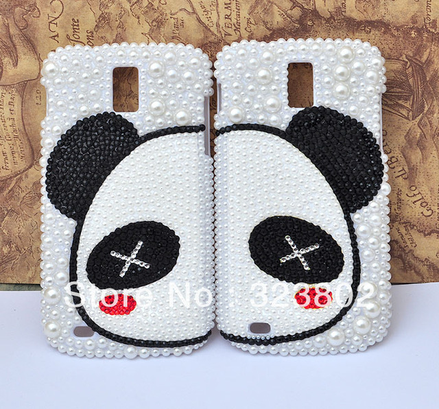 Panda Face Hard Pearl Case Cover with For Samsung GALAXY S II or 2 T-Mobile T989 Sprint D710 Epic 4G Touch