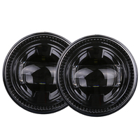 DOT EMARK Approved Round Black LED Fog Lights Assembly Lamps Replacement for Ford F150 2007 2014 (2pcs)