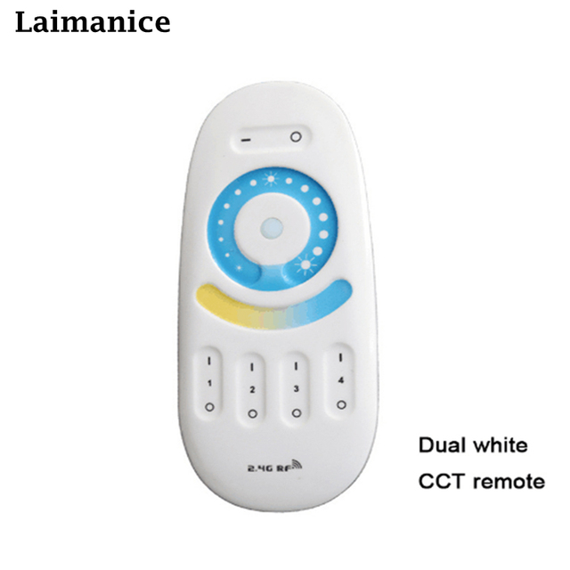 Milight FUT091 2.4G LED CCT dual white LED lighting Group Division 4 Zone RF Transmission Tech CT Remote Controller for led