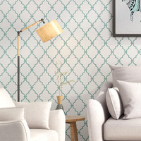European self adhesive non woven wallpaper bedroom living room dining room background wallpaper home decoration simple wallpaper