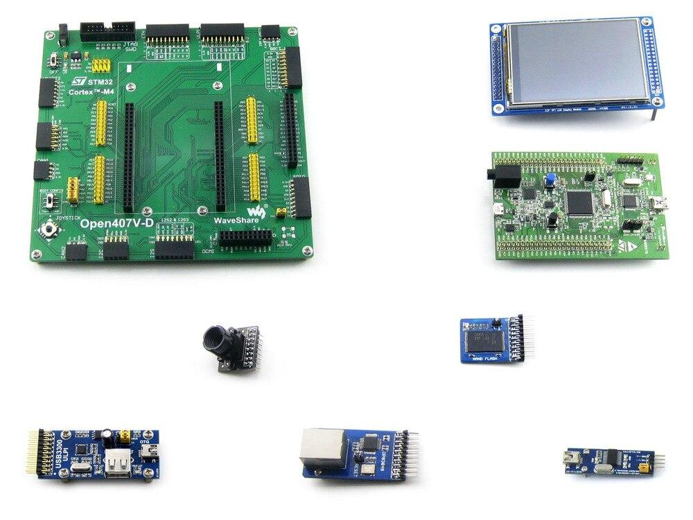 Open407V D Pakket EEN = STM 32 Board, ST Originele STM32F4DISCOVERY/STM32F407G DISC1, STM32F407VGT6 + 3.2 '320x240 Touch LCD + 8 Modules-in Demo bord van Computer & Kantoor op AliExpress - 11.11_Dubbel 11Vrijgezellendag 1
