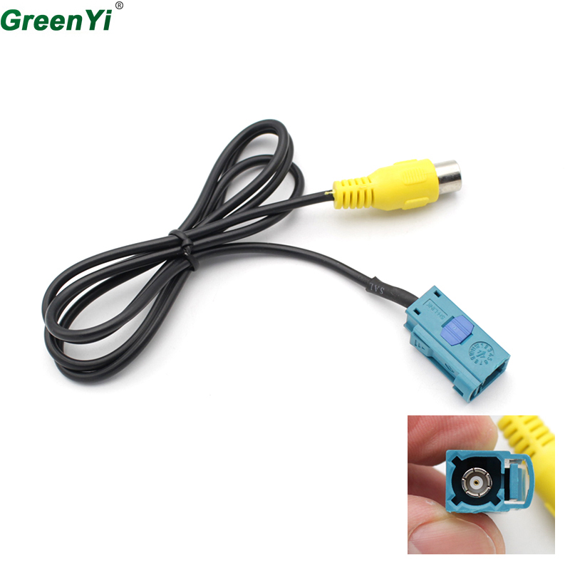 GreenYi For Mercedes-Benz C / E / GLK Volvo S80L Dedicated Reversing Rear View Camera RCA Video Adapter Cable