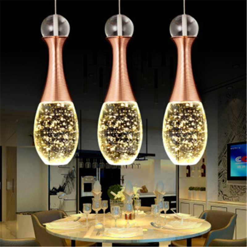Bubble Crystal LED Luminaire Suspendu Modern Nordic Creative Simple Personality Single Head Three Head Hanging Lamp Living RoomBubble Crystal LED Luminaire Suspendu Modern Nordic Creative Simple Personality Single Head Three Head Hanging Lamp Living Room
