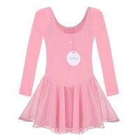 One Piece Gymnastics Tutu Leotard Skate Long Sleeve Girls Kid Ballet Dance Dress Dancewear 67