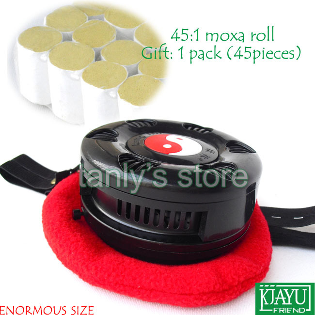 Wholesale & retail Enormous size body moxibustion box moxa device (gift 54pieces 45:1 moxa roll) home health product pure cupper big size body moxibustion device moxa cone health beauty face tool 9pieces set 45 1 moxa roll