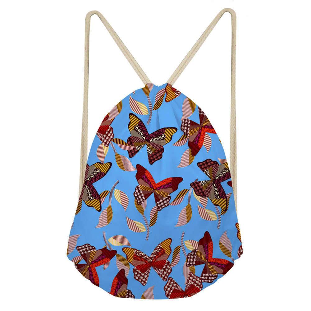 Schmetterling Kleine Frauen Rucksack Vintage Blau Mädchen Schule Taschen Weiblichen Sommer Freizeit Reise Rucksack Tasche