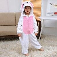 Baby Boys Girls Pajamas Warm Autumn Winter Spring Children Animal Cartoon Blue Pink Rabbit Pajamas Kids