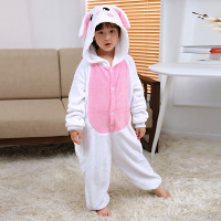 Baby Boys Girls Pajamas Warm Autumn Winter Spring Children Animal Cartoon Blue Pink Rabbit Pajamas Kids