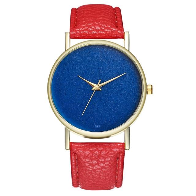 4137209667e 2018 Newest Women Casual Watches Sleek Minimalist Blue Dial Relogio  Feminino Vintage Charm Ladies Quartz Watch