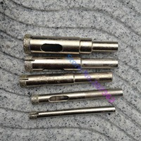 Granite Drill Bits With Heavy Duty Diamond Dust Coating 5 Piece Set