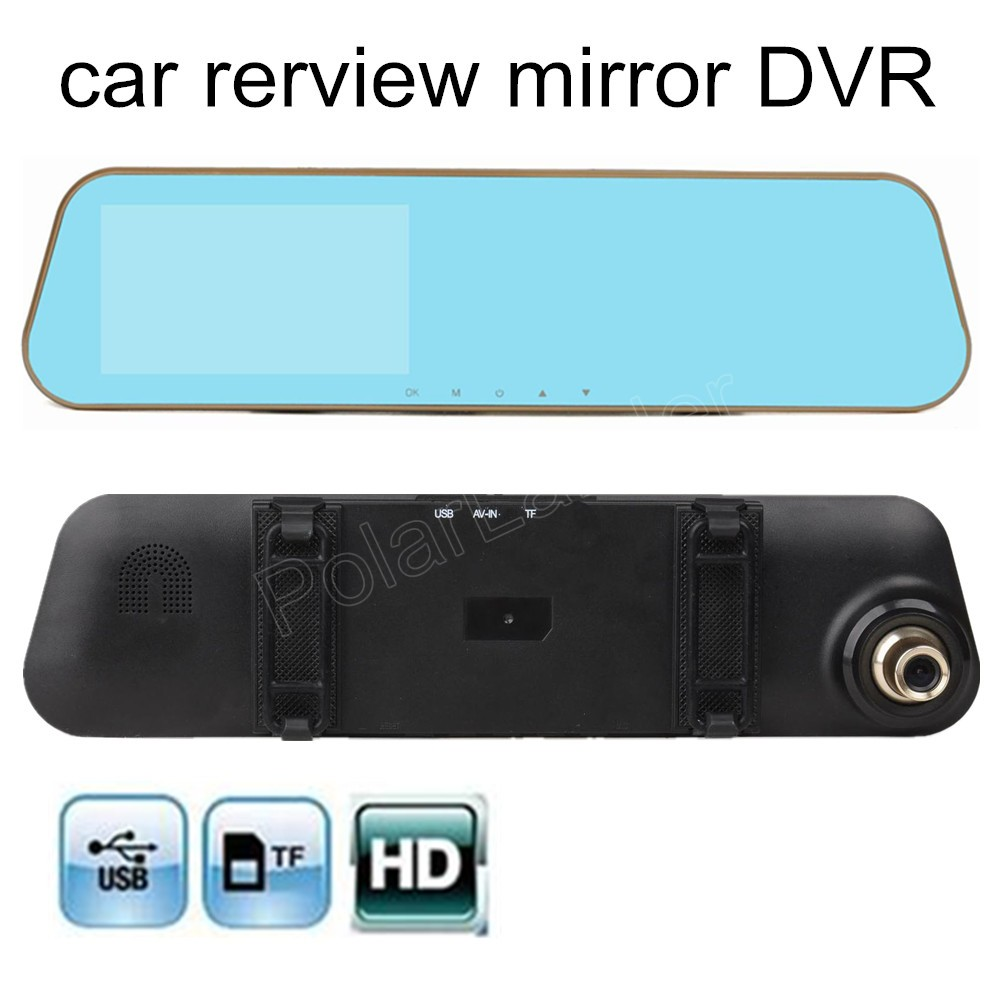 Rearview Mirror HD Automobile Data Recorder 170 degree Wide Angle Car Dash Cam DVR 4.3 inch screen high quality