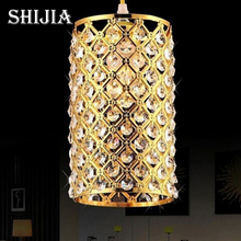 ФОТО free shipping 2014 new fashion bar aisle gold crystal lamps stairs crystal chandeliers