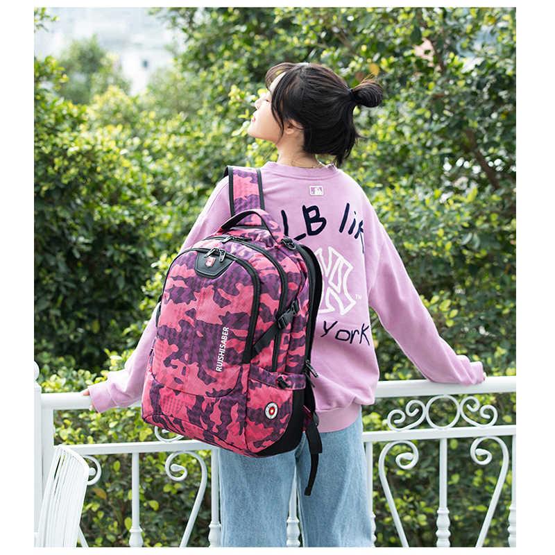 2020 New Fashion 17.3 calowy plecak na laptopa mężczyźni wielofunkcyjny wodoodporny plecak męski z ładowaniem USB podróżny plecak Mochila