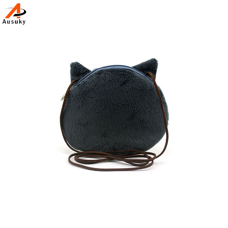c8fa884beb 3D mignonne bourse en peluche Kitty Coin For Childern chat / chiens ...