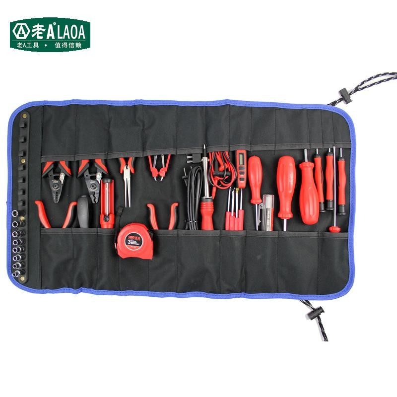 LAOA Multifunction Coiling block Tool Bags Portable Toolkit 600D Fabric Lengthen Tools package Solid Durable