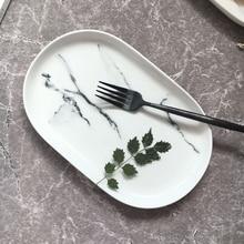 1 stück Minimalistischen Marmoriert Keramik Teller Haushalt Frühstück Platte Porzellan Tiefe Geschirr Geschirr Versorgung Beste Geschenk