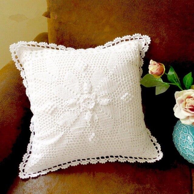 100% algodón hecho a mano crochet Fundas de colchón Almohadas ...