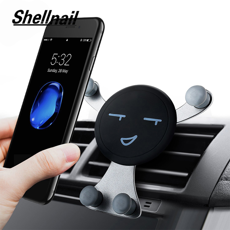 SHELLNAIL Car Air Vent Phone Holder Smartphone GPS Gravity Stands Universal Car Mobile Phone Holder Auto Phone Support For Car