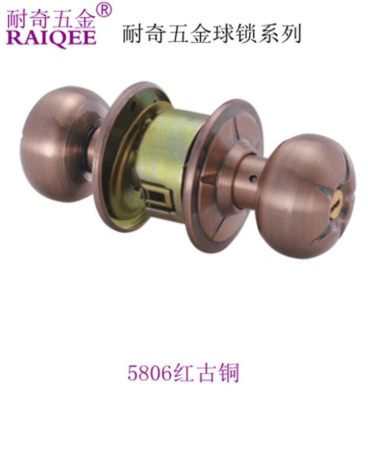 Factory outlets] Ball odd resistant locks the toilet room door locks lock Tongxin computer circular brass keys