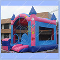 New Large Pink Castle Bounce House/16.4ft by 16.4ft Inflatable Bouncer /Kids like it so much./ Large area for Bouncing