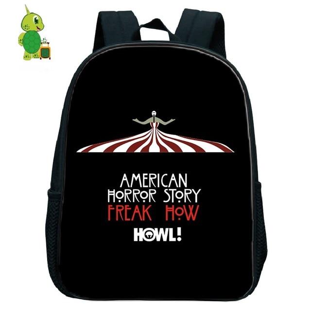 3dd6c8be1482 American Horror Story Tv Show Backpack Children School Bags Toddler Boys  Girls Primary Kindergarten Backpack Kids Small Bags