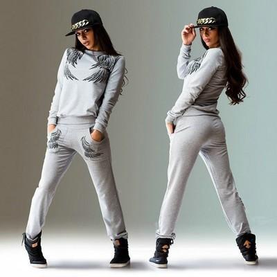 Sell velocidad a través de amazon hot wings diseño de impresión traje casual traje de cuello redondo de manga larga vestido de traje