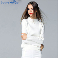 New Women Cashmere Sweater Fashion Pullovers Turtleneck Knitwear Knitted Sweater Spring And Autumn Loose Jumper Ladies