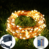 Remote Control Dimmable 50M Copper Wire LED String Lights, Decobree Christmas Lights for Party Wedding Bedroom Christmas Tree