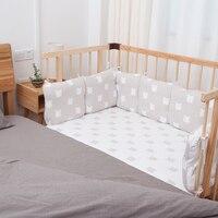 HOUSBAY Детские накладка на перила кроватки 100% хлопок Комплект постельного белья Nordic стиль кроватки бампер и дети подушка для кресла диван под
