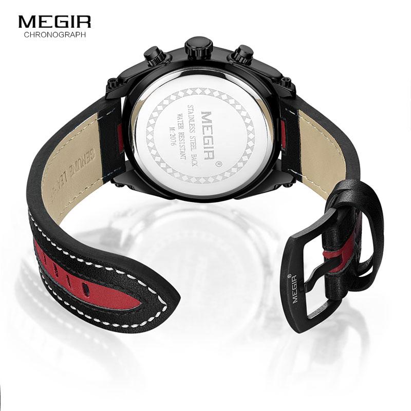 Reloj de pulsera de hombre Megir Relojes Hombre Reloj de pulsera de - Relojes para hombres - foto 5