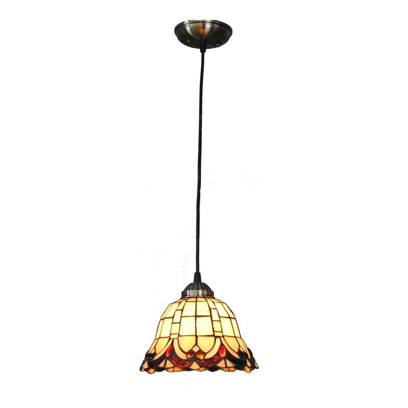Vintage E27 Aisle Light Retro Loft Stained Glass Pendant ...