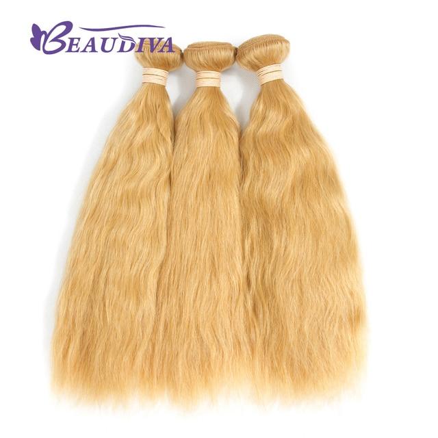 Beaudiva Pre Colored Hair Kinky Straight 613 Brazilian Hair Weave 3