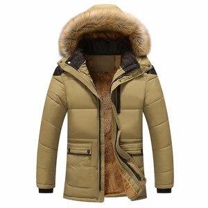 Image 3 - Мужская Повседневная парка BOLUBAO, однотонная теплая Толстая куртка на молнии с капюшоном, пальто для зимы