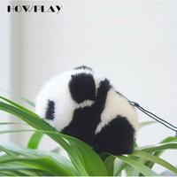 HowPlay Géant Panda En Peluche Porte-clés mignon Panda sac Accessoires Animaux jouets en peluche belle cadeau Australien importé vison cheveux
