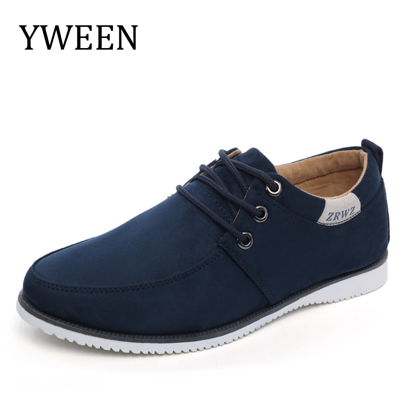 YWEEN 2017 Men s Casual Shoes Man Spring Style Flats For Men solid car driving Shoes
