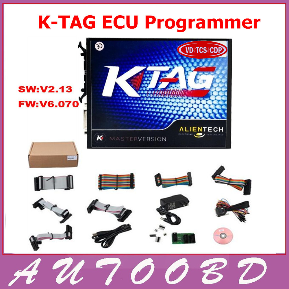 Full Set KTAG SW V2.13 Unlimited Version K TAG Master ECU Programming Tool K-TAG Hardware V6.070 Multi-Language DHL FreeShipping 2017 newest ktag v2 13 firmware v6 070 ecu multi languages programming tool ktag master version no tokens limited free shipping