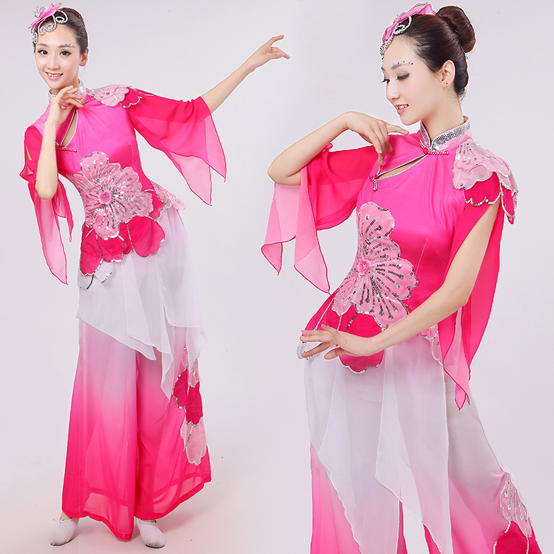 Ancient Chinese Costume Chinese Classical Dance Costumes Yangko Hanfu Fairy Female National Poetic Stage Performance Clothes boys costumes scholar costumes chivalrous person costumes novelty costumes ancient chinese wear