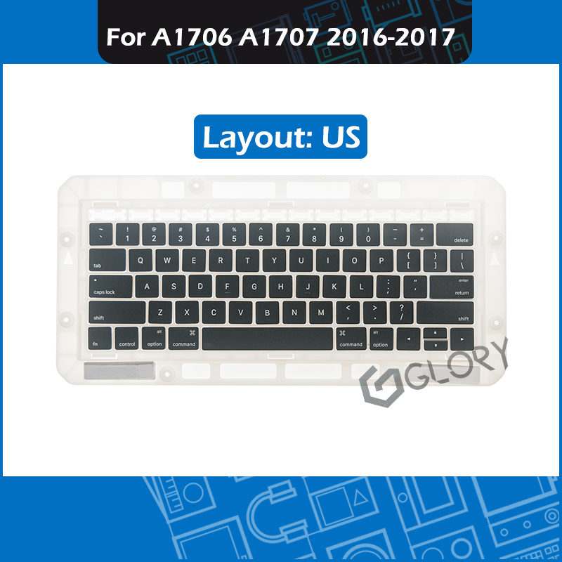 Laptop A1706 A1707 Keycaps US Layout for Macbook Pro Retina 13 15 Touch Bar Key cap Complete set Replacement 2016 2017 Year image