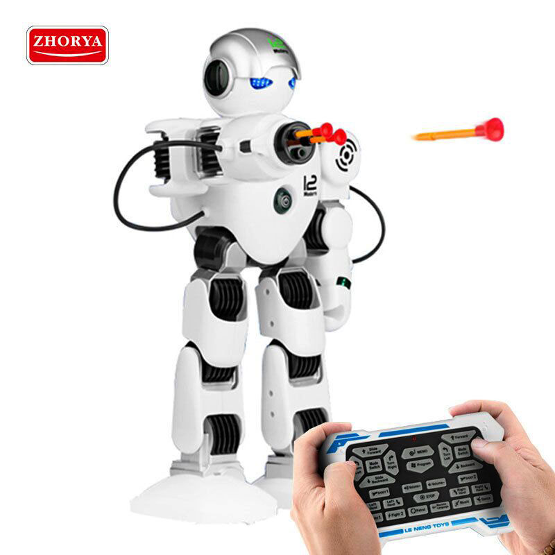 Zhorya toys RC Robot Intelligent robot Remote Control shooting toys Music and Light Electronic Toy for Children Birthday Gifts electronic monkey robot monkey plush animal toy sound control laughing talking interactive toys for children birthday gifts