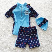 New Arrival Kids Lovely Swimsuit Quality Boys Swimwear Teenagers Two pieces Cute Blue Red Bath Suit Infant Children Beachwear
