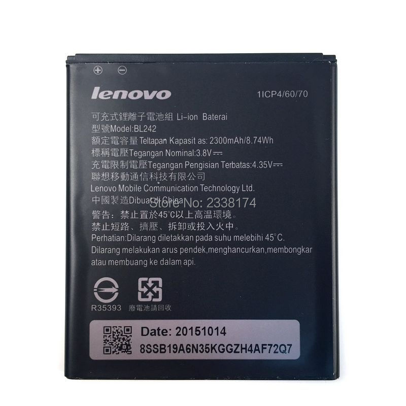 2300mAh Battery For Lenovo A3910 A6010 / A6010 PLUS phone Batterie + Tracking Code