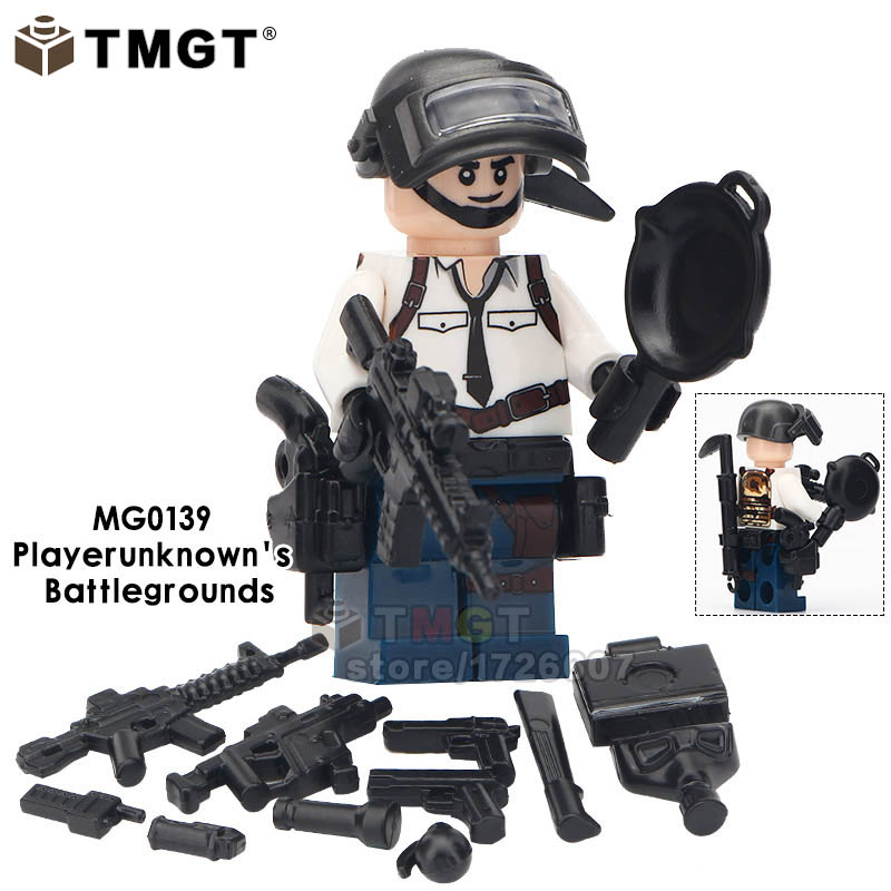 Blocks Model Building Considerate Tmgt Single Sale Building Blocks Shooting Sandbox Character Playerunknowns Battlegrounds Toys For Children Legoingly Friends