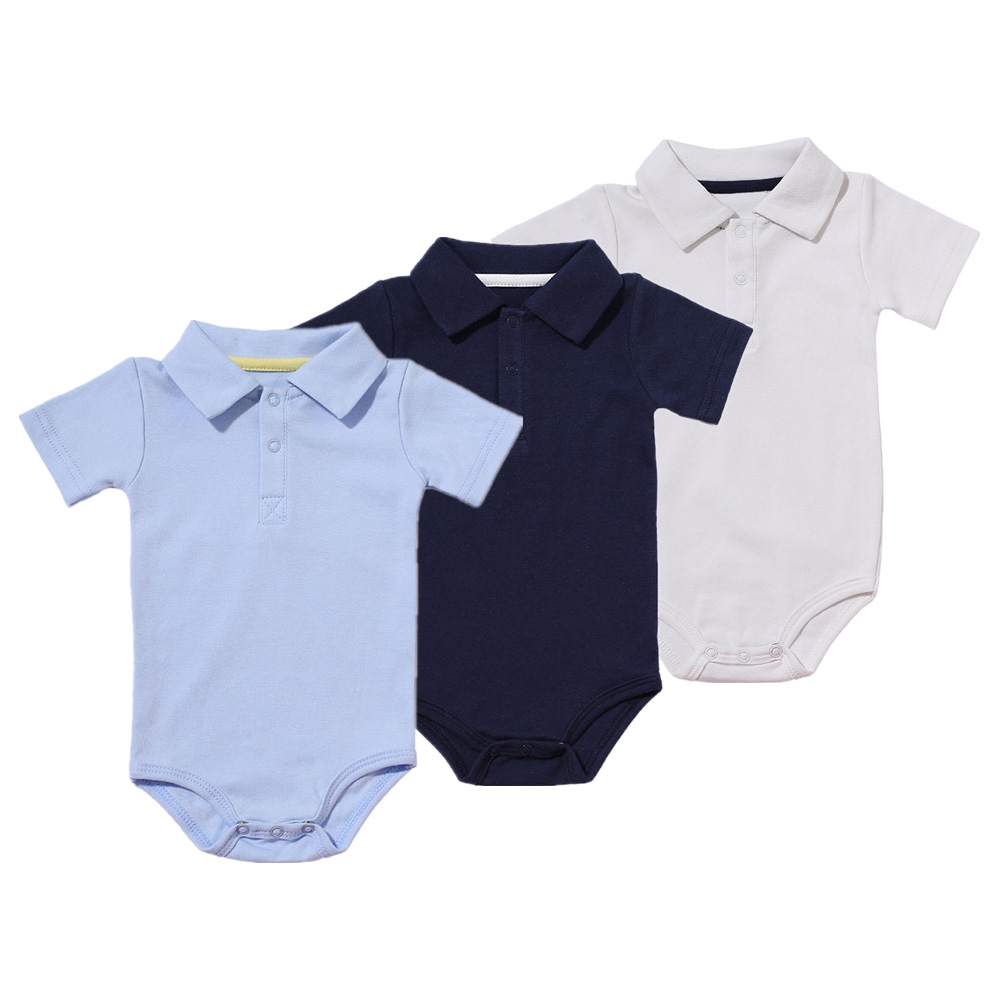 Baby Boys Rompers Summer Polo Shirt Infant Jumpsuit Solid Cotton Girls Clothing Short Sleeve Newborn Baby Boy Clothes 8 Colors baby boys girls summer cotton clothes white navy sailor uniforms rompers short sleeve one pieces jumpsuit babies clothing gifts